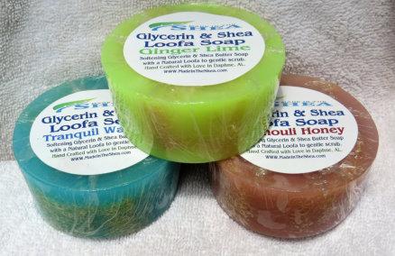 Glycerin & Shea Loofa Soap